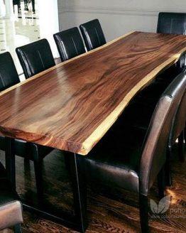 meja makan trembesi kayu utuh