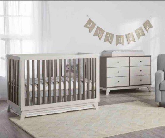 box bayi kayu dan nakas tafel