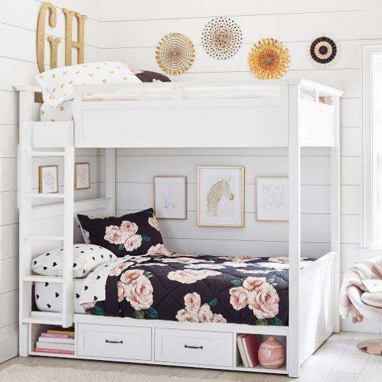 ranjang tingkat kayu mahoni