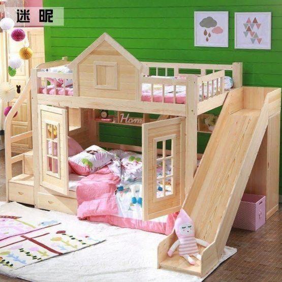 tempat tidur tingkat istana
