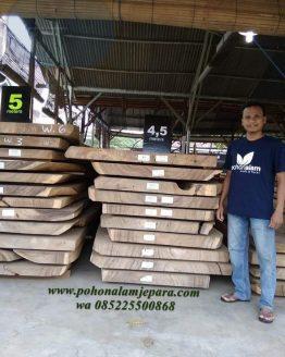 lembaran kayu utuh besar