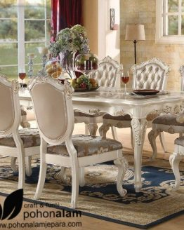meja makan mewah 6 kursi