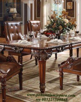 meja makan mewah kayu jati