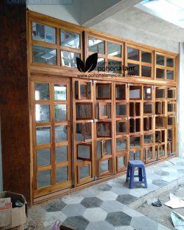 pintu garasi kayu jati